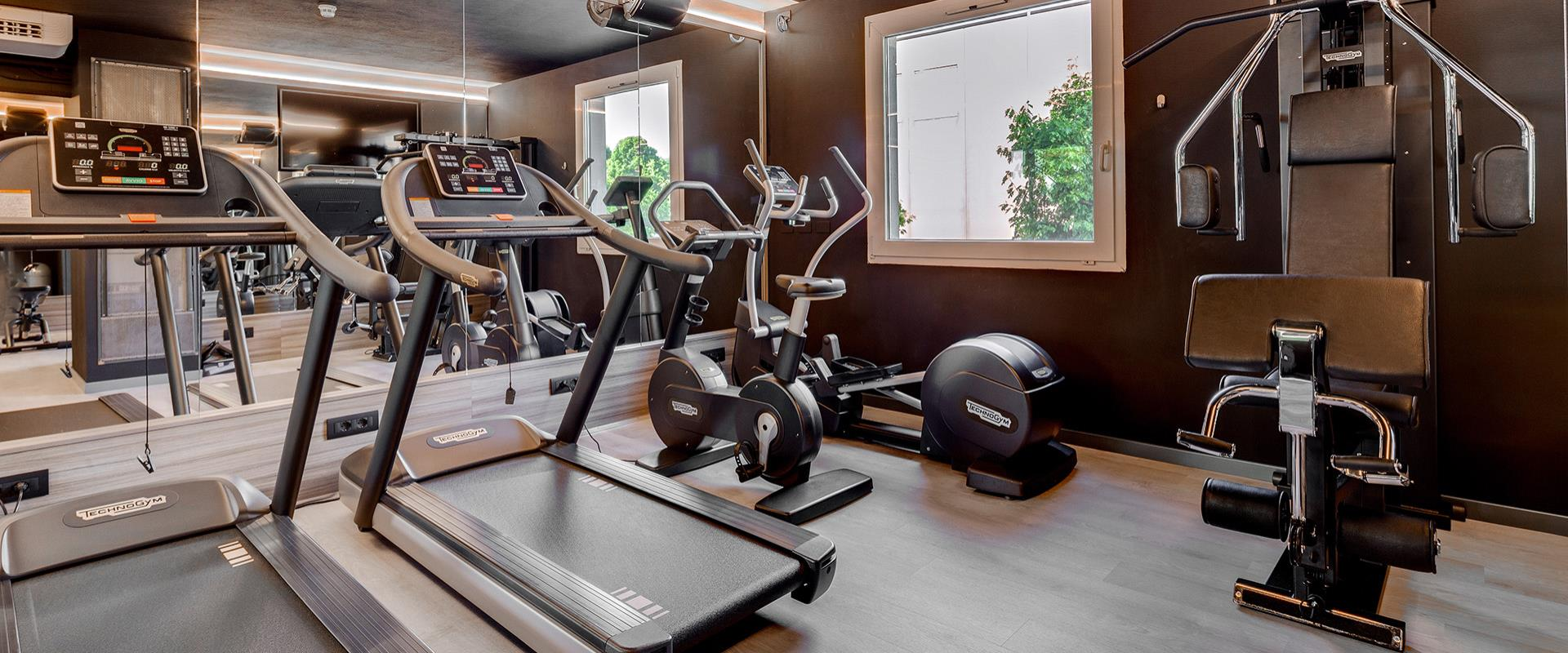 The BW Hotel Aries offers a well-equipped gym in Vicenza